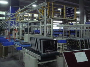 Home Appliance HD TV Assembly Line Testing System , Television Conveyor Line